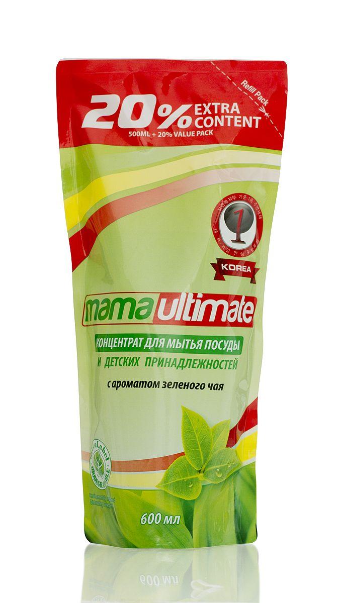 Гель для мытья посуды и детских принадлежностей Mama Ultimate, с ароматом зеленого чая, сменная упаковка, 600 мл6.295-875.0Для мытья посуды, овощей и фруктов, для мытья детских принадлежностей, на основе природных минералов, классическая боразлагаемая формула, 3х концентрация, не сушит руки, на основе природных минералов, устраняет неприятные запахи