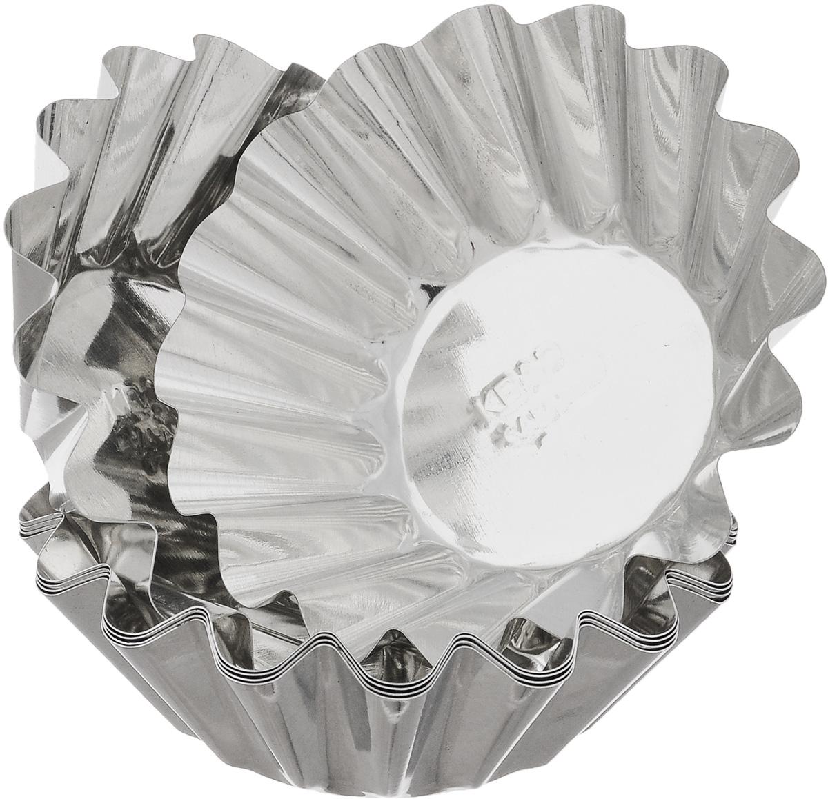 Набор форм для выпечки Кварц, диаметр 9,5 см, 6 шт391602Набор Кварц состоит из шести форм, выполненных из белой жести. Формы предназначены для выпечки и приготовления желе. Стенки изделий рельефные.С набором форм Кварц вы всегда сможете порадовать своих близких оригинальной выпечкой.Диаметр форм (по верхнему краю): 9,5 см.Высота форм: 3 см.