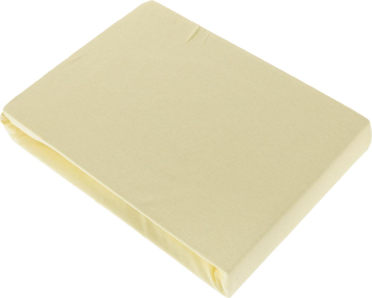 Простыня на резинке Tete-a-Tete, цвет: лимон, 160 х 200 смWUB 5647 weisПростыня Tete-a-Tete выполнена из трикотажа (100% хлопок). Высочайшее качество материала гарантирует безопасность не только взрослых, но и самых маленьких членов семьи. Изделие прошито резинкой по всему периметру, что обеспечивает более комфортный отдых, так как оно прочно удерживается на матрасе и избавляет от необходимости часто поправлять простыню. Простыня гармонично впишется в интерьер вашей спальни и создаст атмосферу уюта и комфорта.Рекомендации по уходу:Деликатная стирка при температуре воды до 40°С.Отбеливание, химчистка запрещены.Рекомендуется глажка.