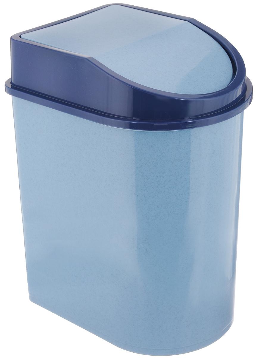 Контейнер для мусора Idea, цвет: голубой мрамор, 8 л531-105Мусорный контейнер Idea, выполненный из прочного полипропилена (пластика), не боится ударов и долгих лет использования. Изделие оснащено плавающей крышкой, с помощью которой его легко использовать. Крышка плотно прилегает, предотвращая распространение запаха. Вы можете использовать такой контейнер для выбрасывания разных пищевых и не пищевых отходов. Контейнер может пригодиться также в ванной комнате или у туалетного столика.