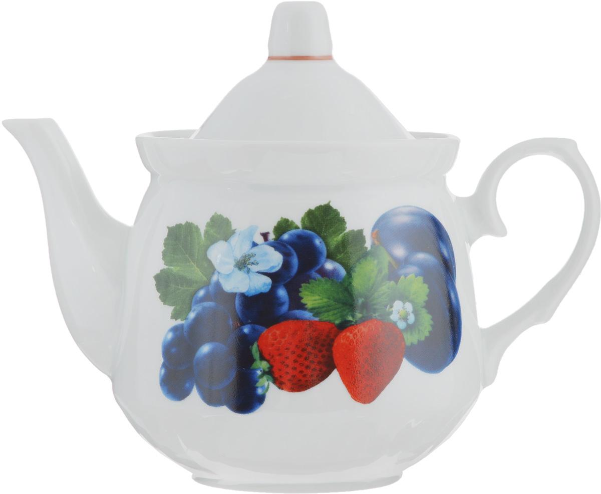 Чайник заварочный Кирмаш. Ассорти, 550 мл115510Заварочный чайник Кирмаш. Ассорти изготовлен из высококачественного фарфора. Изделиеоформлено ярким рисунком. Такой чайник идеально подойдет для заваривания чая. Он хорошо держит температуру, что способствует более полному раскрытию цвета, аромата и вкуса чайного букета.Изделие прекрасно дополнит сервировку стола к чаепитию и станет его неизменным атрибутом.Диаметр (по верхнему краю): 10 см. Высота чайника (без учета крышки): 10,5 см.
