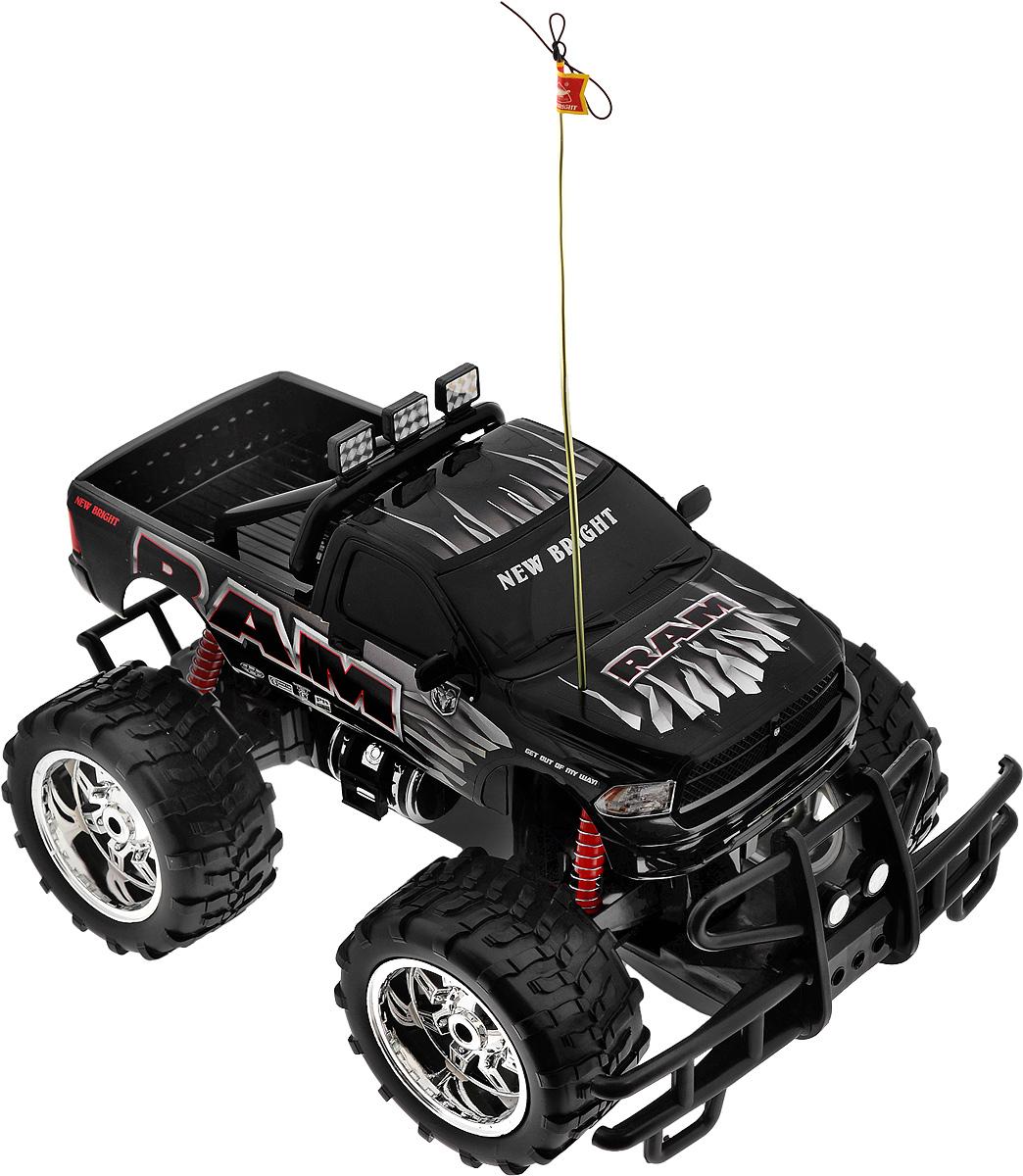 """Радиоуправляемая модель New Bright """"Ram"""" станет отличным подарком любому мальчику! Все дети хотят иметь в наборе своих игрушек ослепительные, невероятные и модные автомобили на радиоуправлении. Тем более, если это автомобиль известной марки с проработкой всех деталей, удивляющий приятным качеством и видом. Автомобиль обладает неповторимым провокационным стилем и спортивным характером. Потрясающая маневренность, динамика и покладистость - отличительные качества этой модели. Возможные движения: вперед, назад, вправо, влево. Колеса машины прорезинены и обеспечивают плавный ход, машинка не портит напольное покрытие. Радиоуправляемые игрушки способствуют развитию координации движений, моторики и ловкости. Модель работает от сменного аккумулятора (входит в комплект). Зарядное устройство также входит в комплект. Пульт управления работает от 2 батареек типа АА (входят в комплект)."""