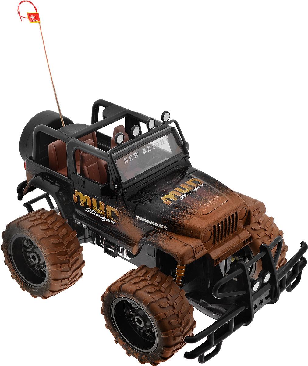 """Культовый американский автомобиль Jeep Wrangler привлечет внимание как ребенка, так и взрослого. Маневренная и реалистичная уменьшенная копия New Bright """"Jeep Wrangler"""" выполнена в точной детализации с настоящим автомобилем в масштабе 1:10. Управление машиной происходит с помощью пульта. Пульт управления работает на частоте 27 MHz. Jeep двигается вперед и назад, поворачивает направо и налево. Колеса игрушки прорезинены и обеспечивают плавный ход, машинка не портит напольное покрытие. Радиоуправляемые игрушки способствуют развитию координации движений, моторики и ловкости. Ваш ребенок часами будет играть с моделью, придумывая различные истории и устраивая соревнования. Порадуйте его таким замечательным подарком! Машина работает от сменного аккумулятора (входит в комплект). Зарядка осуществляется при помощи зарядного устройства (входит в комплект). Для работы пульта управления необходимы 2 батарейки типа АА (входят в комплект)."""
