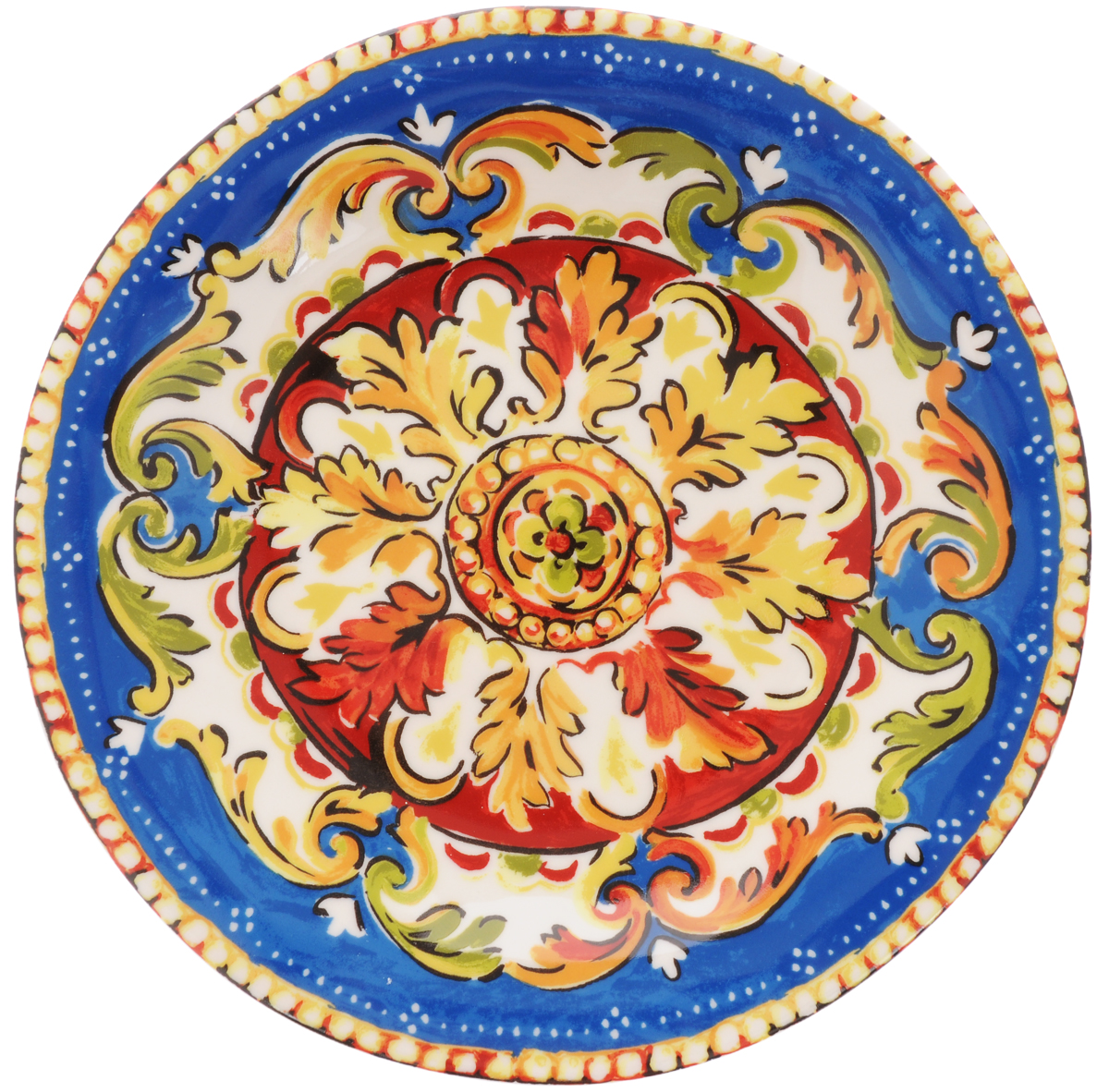 Тарелка обеденная Utana Оберон, диаметр 27 см54 009312Обеденная тарелка Utana Оберон изготовлена из высококачественной керамики. Многоступенчатый высокотемпературный обжиг, двухстороннее глазурование и использование подглазурных деколей обеспечивает прочность черепка керамической посуды, превращая его практически в камень, при этом защищая поверхность от царапин, а рисунок от истирания. Теплые краски глазури, плавные линии росписи, удобство, долговечность и безопасность, европейское качество и многовековая самобытность национального и культурного наследия индонезийских мастеров - вот то, что является отличительными признаками керамической посуды Utana. Любая коллекция этого производителя создает праздничное настроение и уют в каждом доме. Посуда из керамики, имеющая знак 222 FIFHT, - особая линия посуды, очень популярная в Европе и США, каждый дизайн которой уникален и спустя годы будет так же великолепно свеж и привлекателен. Посуду можно использовать в СВЧ и мыть в посудомоечных машинах.