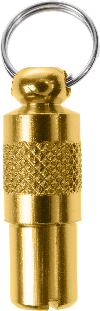 Адресник-капсула Vila, цвет: золотой, 2,7 х 1 х 1 см12171996Адресник-капсула Vila является одним из способов идентификации животных. Корпус изделия выполнен из прочного алюминия. Внутрь капсулы вкладывается информация о животном и владельце, а также она служит украшением к ошейнику.