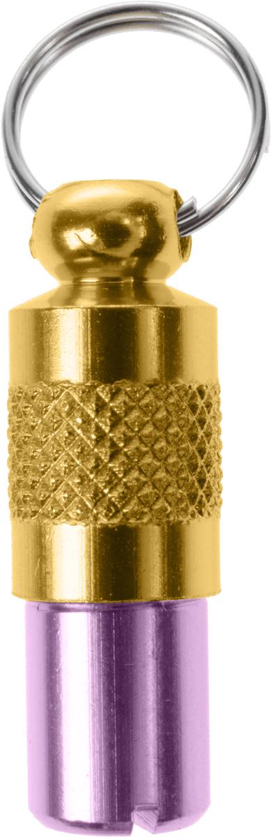 Адресник-капсула Vila, цвет: фиолетовый, золотой, 2,7 х 1 х 1 см0120710Адресник является одним изспособов индетификации животных.Внутрь капсулы вкладывается информация о животном и владельце, а также служит украшением к ошейнику.