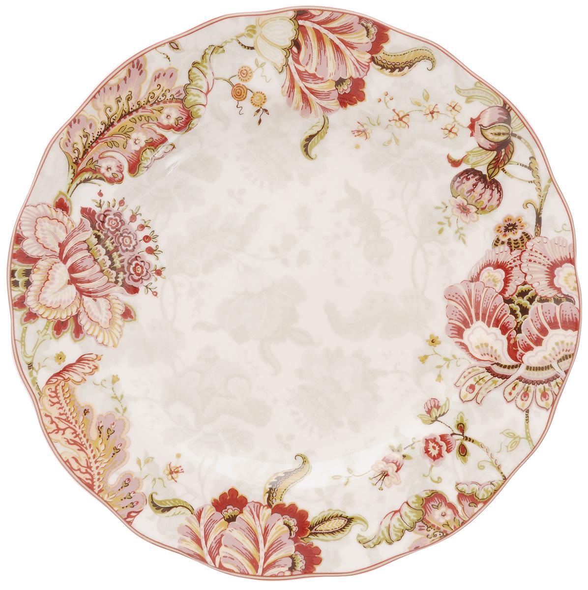 Тарелка обеденная Utana Габриэлла, диаметр 27,5 см54 009312Обеденная тарелка Utana Габриэлла изготовлена из высококачественной керамики. Многоступенчатый высокотемпературный обжиг, двухстороннее глазурование и использование подглазурных деколей обеспечивает прочность черепка керамической посуды, превращая его практически в камень, при этом защищая поверхность от царапин, а рисунок от истирания. Теплые краски глазури, плавные линии росписи, удобство, долговечность и безопасность, европейское качество и многовековая самобытность национального и культурного наследия индонезийских мастеров - вот то, что является отличительными признаками керамической посуды Utana. Любая коллекция этого производителя создает праздничное настроение и уют в каждом доме. Посуда из керамики, имеющая знак 222 FIFHT, - особая линия посуды, очень популярная в Европе и США, каждый дизайн которой уникален и спустя годы будет так же великолепно свеж и привлекателен. Посуду можно использовать в СВЧ и мыть в посудомоечных машинах.