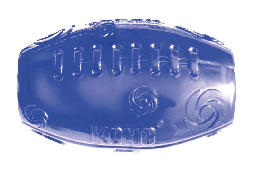 Игрушка для собак Kong Сквиз Мячик регби, средний, 5 х 10 см0120710Игрушка для собак изготовлена из очень прочной и безопасной резины. Пищалка у игрушки KONG Squeezz встроена глубоко внутри, поэтому она более безопасна, чем другие пищалки и издает самые забавные звуки. Прекрасно подходит для игр с апортом, способность к непредсказуемым отскокам и пищалка гарантируют целую гамму веселья вам и вашей собаке.