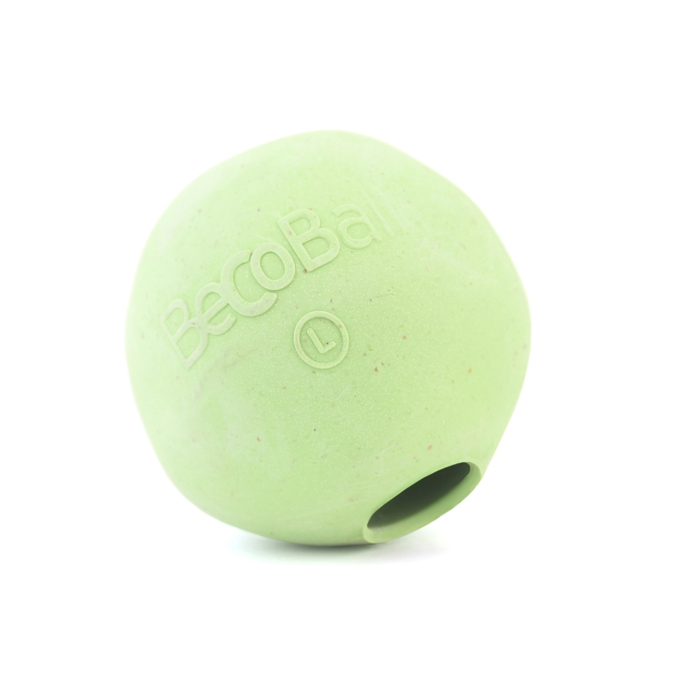 Игрушка для собак BecoThings Мяч, цвет: зеленый, 7 см0120710Игрушка для собак BecoThings Мяч была тщательно разработана. Мяч изготовлен из натурального каучука и волокон рисовой шелухи. Игрушка для собак BecoThings Мяч нетоксична, поэтому, если ваш питомец случайно проглотит кусок мяча, то изделие не причинит никакого ущерба.Благодаря неправильной форме шара, мяч прыгает непредсказуемо, тем самым увлекая собаку в игру.Диаметр игрушки: 7 см.Материал: рисовая шелуха, каучук.