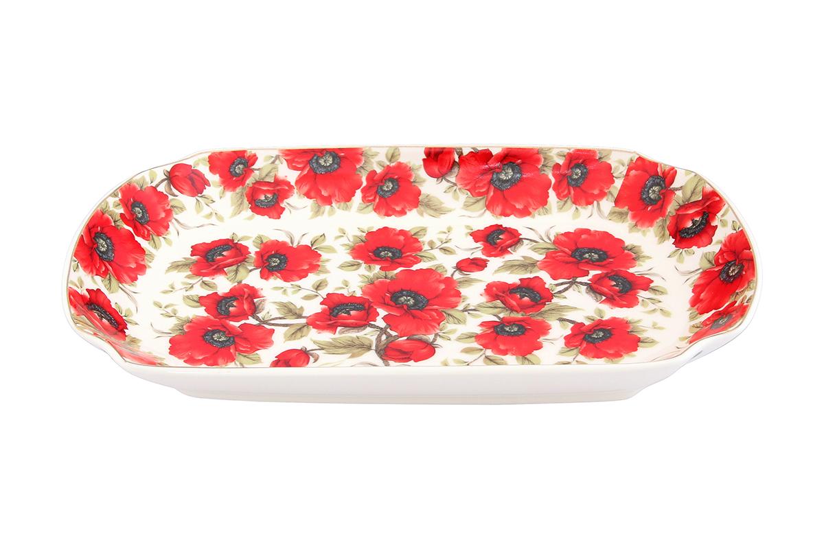 Блюдо для слоеных салатов Elan Gallery Маки, 29 х 17 х 4 смVT-1520(SR)Блюдо для слоеных салатов Elan Gallery Маки, изготовленное из керамики, сочетает в себе изысканный дизайн с максимальной функциональностью. Красочность оформления придется по вкусу тем, кто предпочитает утонченность и изящность. Оригинальное блюдо украсит сервировку вашего стола и подчеркнет прекрасный вкус хозяйки, а также станет отличным подарком. Размер блюда (по верхнему краю): 29 х 17 см.Высота: 4 см.