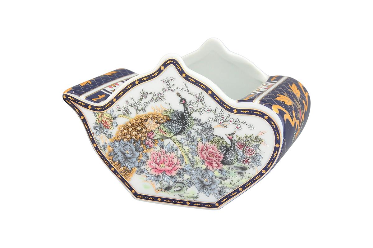 Подставка сервировочная для чайных пакетиков Elan Gallery Чайник. Павлин на золоте, 12 х 9 х 8 см115510Сервировочная подставка для чайных пакетиков Elan Gallery Чайник. Павлин на золоте, изготовленная из высококачественной керамики, порадует вас оригинальностью и дизайном. Изделие имеет изысканный внешний вид.Такая подставка, несомненно, понравится любой хозяйке и украсит интерьер любой кухни!