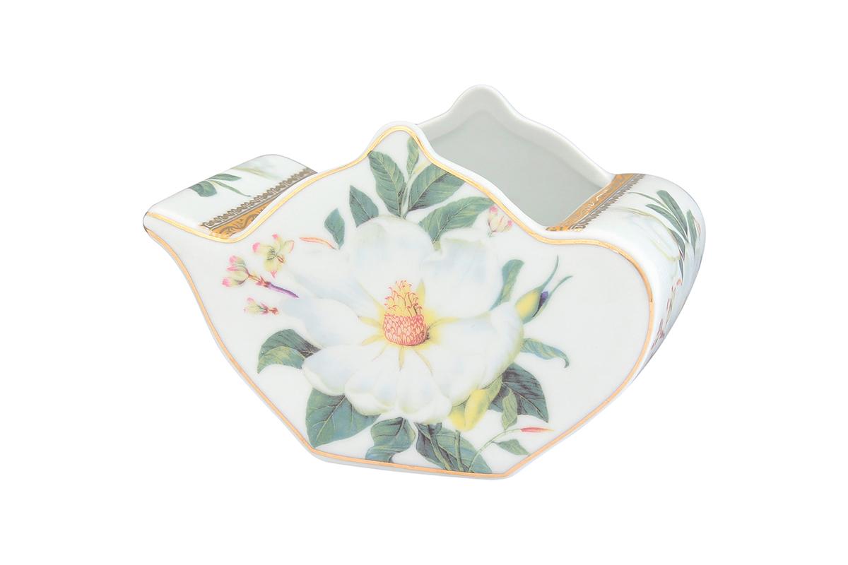 Подставка сервировочная для чайных пакетиков Elan Gallery Чайник. Белый шиповник, 12 х 9 х 8 см54 009312Сервировочная подставка для чайных пакетиков Elan Gallery Чайник. Белый шиповник, изготовленная из высококачественной керамики, порадует вас оригинальностью и дизайном. Изделие декорировано цветочными узорами и имеет изысканный внешний вид.Такая подставка, несомненно, понравится любой хозяйке и украсит интерьер любой кухни!