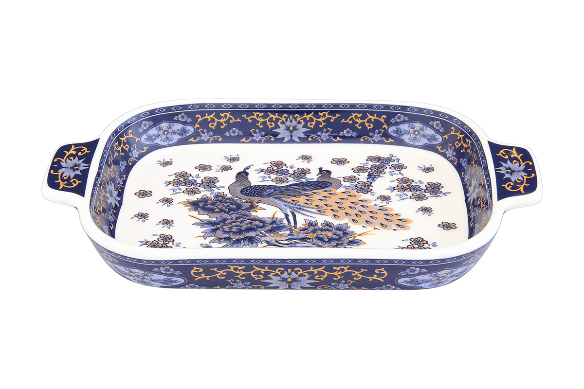 Шпротница Elan Gallery Павлин, цвет: синий, 18 х 10,5 х 2,5 смVT-1520(SR)Изящная шпротница изготовлена из фарфора. Благодаря прекрасному дизайну шпротница станет отличным дополнением к вашему кухонному инвентарю.Размер: 18 х 10,5 х 2,5 см.