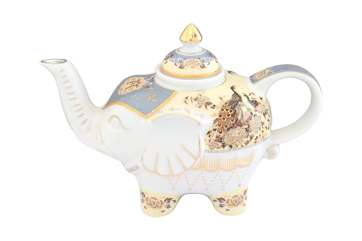 Чайник заварочный Elan Gallery Павлин на бежевом, 750 млVT-1520(SR)Загадочная страна Индия: чай, слоны, солнце, праздник! Чайник, выполненный в форме слона, будет напоминать Вам об Индии и наполнит Ваш дом солнечным настроением. Изделие имеет подарочную упаковку, идеальный подарок для Ваших близких!Объем чайника: 750 мл.Размер чайника: 23 х 11 х 15 см.