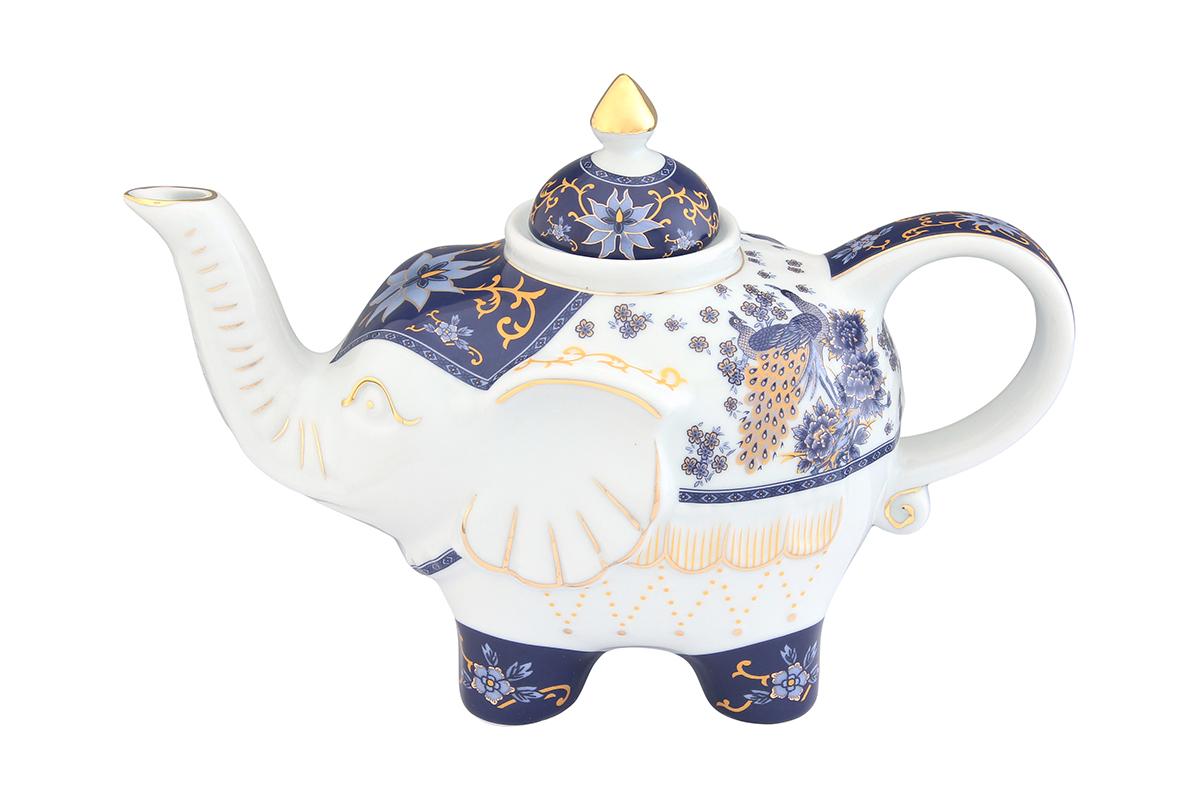 Чайник заварочный Elan Gallery Павлин синий, 750 млVT-1520(SR)Оригинальный заварочный чайник Elan Gallery Павлин синий изготовлен из высококачественной керамики. Изделие декорировано красочным рисунком и золотистой эмалью. Чайник снабжен удобной ручкой и широким носиком. Загадочная страна Индия: чай, слоны, солнце, праздник! Чайник, выполненный в форме слона, будет напоминать вам об Индии и наполнит ваш дом солнечным настроением.