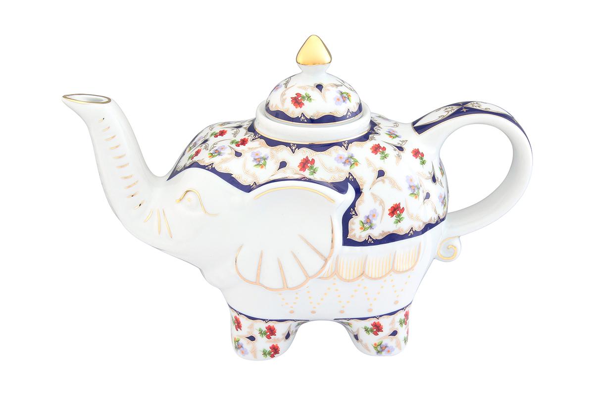 Чайник заварочный Elan Gallery Цветочек, 750 мл54 009305Загадочная страна Индия: чай, слоны, солнце, праздник! Чайник, выполненный в форме слона, будет напоминать Вам об Индии и наполнит Ваш дом солнечным настроением. Изделие имеет подарочную упаковку, идеальный подарок для Ваших близких!Объем чайника: 750 мл.Размер чайника: 23 х 11 х 15 см.