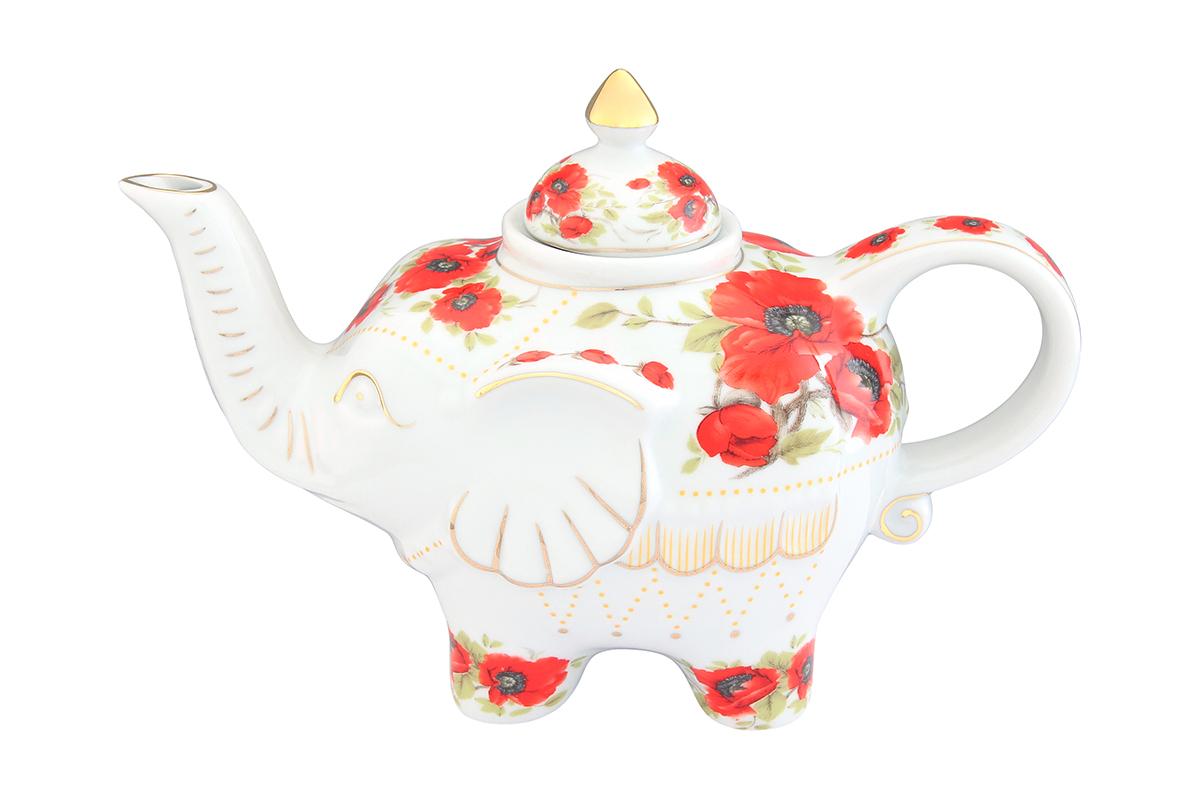 Чайник заварочный Elan Gallery Маки, 750 мл54 009312Загадочная страна Индия: чай, слоны, солнце, праздник! Чайник, выполненный в форме слона, будет напоминать Вам об Индии и наполнит Ваш дом солнечным настроением. Изделие имеет подарочную упаковку, идеальный подарок для Ваших близких!Объем чайника: 750 мл.Размер чайника: 23 х 11 х 15 см.