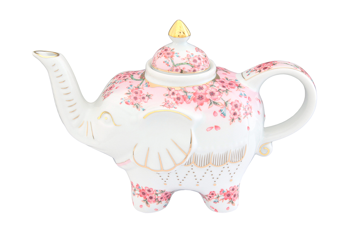 Чайник заварочный Elan Gallery Сакура, 750 мл115510Загадочная страна Индия: чай, слоны, солнце, праздник! Чайник, выполненный в форме слона, будет напоминать Вам об Индии и наполнит Ваш дом солнечным настроением. Изделие имеет подарочную упаковку, идеальный подарок для Ваших близких!Объем чайника: 750 мл.Размер чайника: 23 х 11 х 15 см.