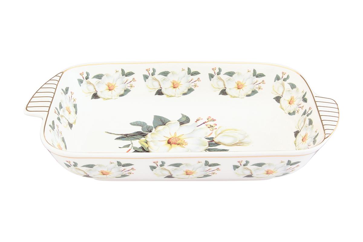 Шубница Elan Gallery Белый шиповник, 900 мл115510Шубница Elan Gallery Белый шиповник, выполненная из высококачественной керамики, идеальное блюдо для сервировки традиционного салата Сельдь под шубой или любого другого слоеного салата. Компактное, аккуратное блюдо с ручками для удобства станет незаменимым при любом застолье.