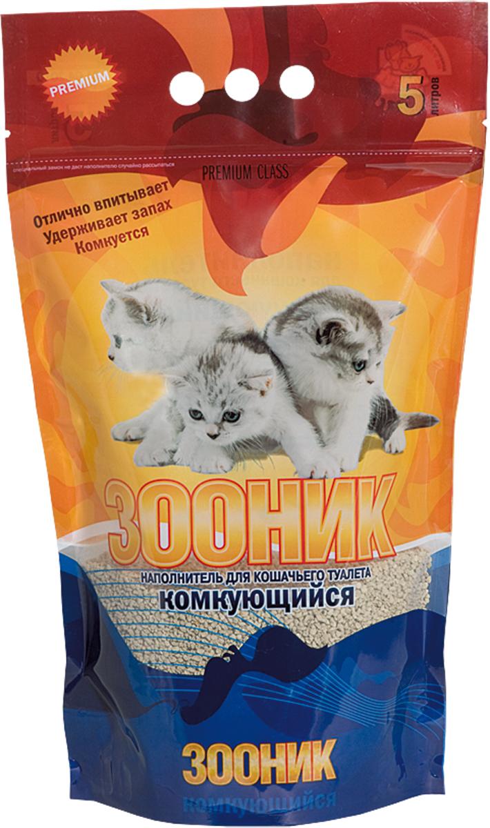 Наполнитель Зооник, комкующийся, 5 л12171996Наполнитель для кошачьего туалета Зооник изготовлен на основе экологически чистой бентонитовой глины. Бентонит является сильнейшим природным сорбентом, интенсивно поглощает запах и обладает антибактериальным воздействием. Размер гранул позволяет обеспечить поверхностное впитывание и формирование комочка, который легко удаляется, не прилипая ко дну лотка. Наполнитель не пылит и не прилипает к лапкам.