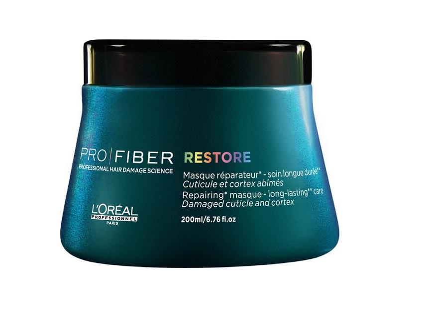LOreal Professionnel Маска для восстановления волос Pro Fiber Restore Mask, 200 млWS 1010Профессиональный уход за волосами обеспечивает им непревзойденный, шикарный вид. Для достижения такого результата не обязательно каждый раз посещать салон. Можно воспользоваться специальными средствами от французского бренда LOreal Professionnel. Восстановить поврежденную структуру волос поможет маска Pro Fiber Restore Mask. Это средство обильно питает пряди от корней до кончиков, подходит для ухода за длинными и короткими волосами. Придает блеск и мягкость, разглаживает и снимает чрезмерное пушение. После применения волосы выглядят здоровыми, поражают мягкостью и шелковистостью. Активные компоненты маски: комплекс Aptyl 100 и миносилан. Миносилан — силиконовое соединение кремния для связывания внутренних слоев волоса в трехмерную сеть — предназначен для укрепления и восстановления поврежденной структуры волос. Уникальный катионный полимер покрывает кутикулу волоса защитной пленкой и «герметизируюет» комплекс Aptyl 100 внутри волоса. Ваши волосы великолепны!