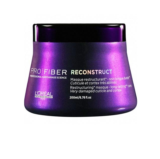 LOreal Professionnel Маска для волос Pro Fiber Reconstruct Masque, 200 мл72523WDЕсли вы устали бороться с ломкостью и сухостью волос, воспользуйтесь замечательной маской для волос LOreal Professionnel Pro Fiber Reconstruct Masque. Средство поможет вернуть здоровье и блеск потускневшим волосам, а также обезопасить их от негативного влияния перепадов температур и фена, поможет восстанавливающая маска LOreal Professionnel Pro Fiber Reconstruct Masque. Вооружитесь этим великолепным средством – и вашей шевелюрой будут восхищаться миллионы! Маска для волос обогащена миносиланом – специальным силиконовым соединением кремния для укрепления и восстановления структуры волос. Питательное средство эффективно увлажняет и восстанавливает пересушенные волосы.Маска наполняет силой тусклые и поврежденные волосы, делая их более сильными и объемными. Средство наполняет пористые волосы протеином. Теперь Вам не нужно тратить свое время и деньги на салоны красоты! Маска для волос LOreal Professionnel Pro Fiber Reconstruct Masque за считанные дни вернет вашим волосам былую красоту и здоровье.