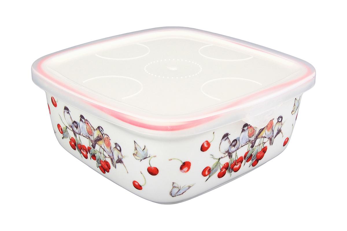 Блюдо для холодца Elan Gallery Вишня, квадратное, с крышкой, 16 х 16 х 6,5 см115510Сервировочное блюдо Elan Gallery Вишня, изготовленное из высококачественной керамики, прекрасно подойдет для заливного или холодца и для хранения слоеных салатов. Пластиковая крышка, входящая в комплект, сохранит свежесть вашего блюда. Такое блюдо украсит сервировку вашего стола и подчеркнет прекрасный вкус хозяйки.Объем блюда: 700 мл.