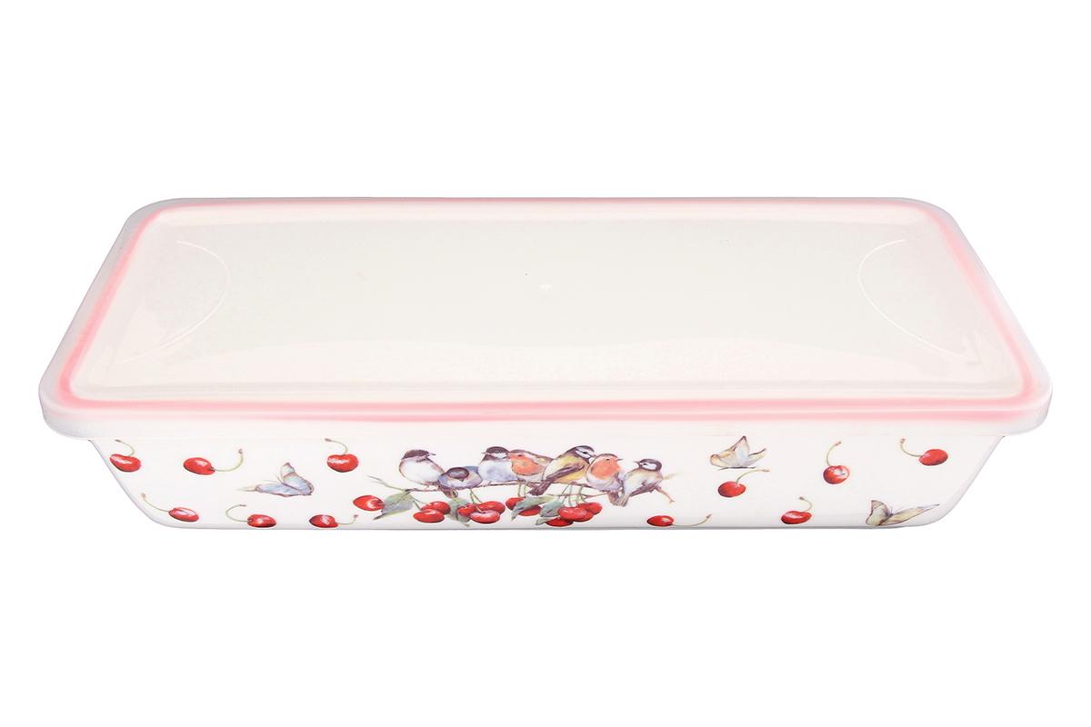 Блюдо для холодца Elan Gallery Вишня, прямоугольное, с крышкой, 28 х 13 х 6,5 см94672Сервировочное блюдо Elan Gallery Вишня, изготовленное из высококачественной керамики, прекрасно подойдет для заливного или холодца и для хранения слоеных салатов. Пластиковая крышка, входящая в комплект, сохранит свежесть вашего блюда. Такое блюдо украсит сервировку вашего стола и подчеркнет прекрасный вкус хозяйки.Объем блюда: 1 л.
