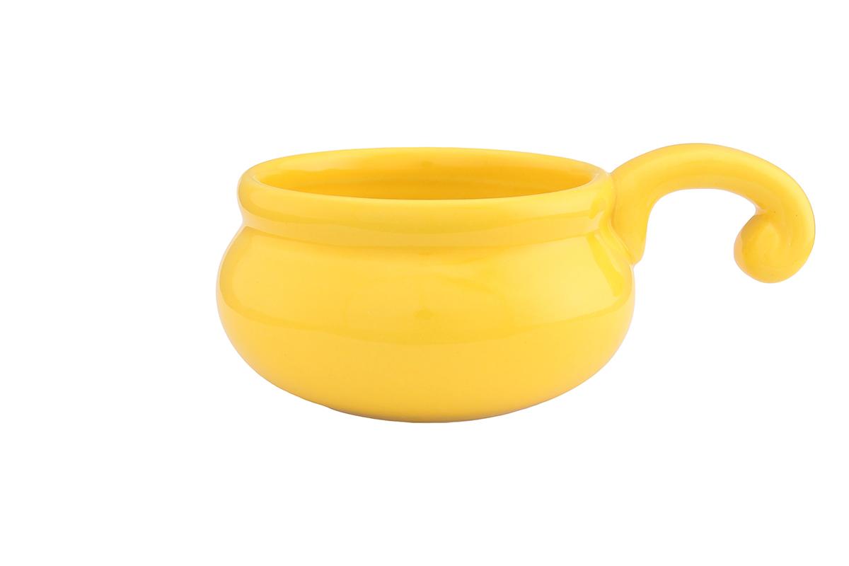 Жюльенница-кокотница Elan Gallery, цвет: желтый, 260 мл94672Жюльенница-кокотница Elan Gallery, изготовленная из жаропрочной керамики, предназначена для приготовления и подачи небольших порций мясных или овощных блюд, а также соусов, закусок и десертов. Керамическая посуда не только быстро нагревается, но и сохраняет тепло дольше, чем посуда из других материалов. Используйте это преимущество посуды и подавайте блюда к столу прямо в тех же емкостях, в которых вы их приготовили - блюда будут долго оставаться горячими.Высота: 5,5 см.Диаметр (по верхнему краю): 9 см.Толщина дна: 4 мм.Толщина стенок: 4 мм.
