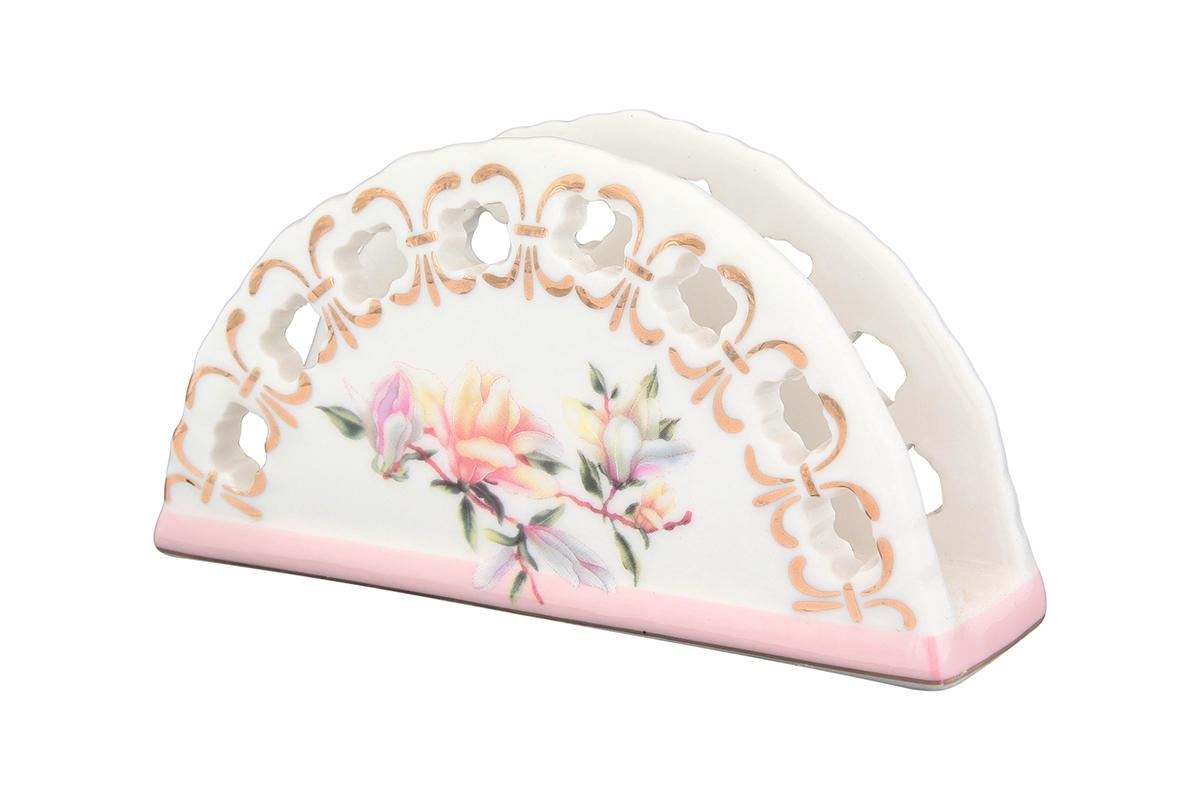 Салфетница Elan Gallery Орхидея на розовом, 13,5 х 4,5 х 7,5 см115510Салфетница Elan Gallery Орхидея на розовом изготовлена из высококачественной керамики и оформлена оригинальным рисунком. Она сочетает в себе изысканный дизайн с максимальной функциональностью. Компактная и в то же время вместительная салфетница станет не только украшением любого стола, но и отличным подарком.