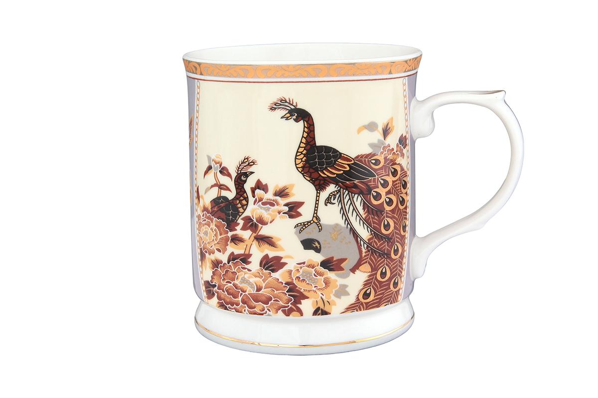 Кружка Elan Gallery Павлин на бежевом, 400 млVT-1520(SR)Кружка классической формы с удобной ручкой выполнена из высококачественной керамики. Подходят для любых горячих и холодных напитков, чая, кофе, какао. Изделие имеет подарочную упаковку, поэтому станет желанным подарком для любимого человека и друга! Объём кружки: 400 мл.