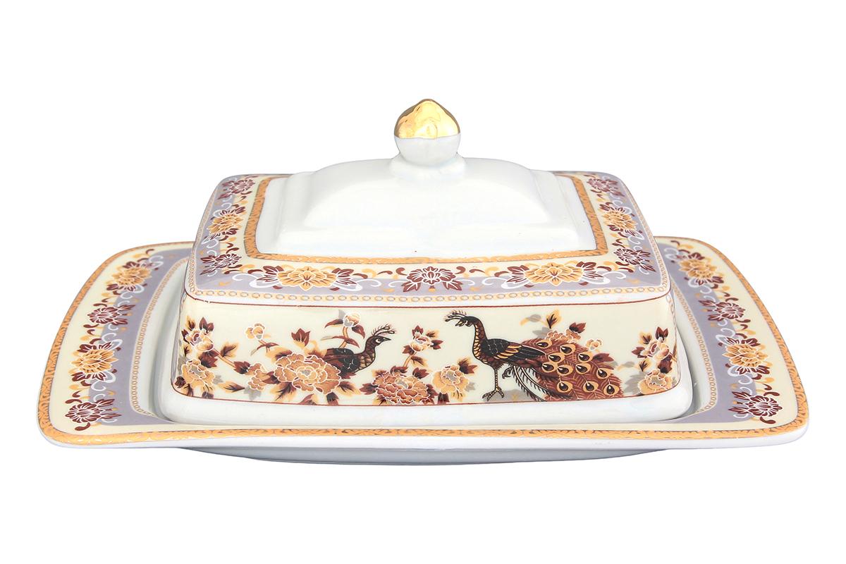 Масленка Elan Gallery Павлин на бежевом115510Великолепная масленка Elan Gallery Павлин на бежевом, выполненная из высококачественной керамики, предназначена для красивой сервировки и хранения масла. Она состоит из подноса и крышки. Масло в ней долго остается свежим, а при хранении в холодильнике не впитывает посторонние запахи. Масленка Elan Gallery Павлин на бежевом идеально подойдет для сервировки стола и станет отличным подарком к любому празднику.Не рекомендуется применять абразивные моющие средства. Не использовать в микроволновой печи.Размер масленки: 20 х 14 х 10 см.