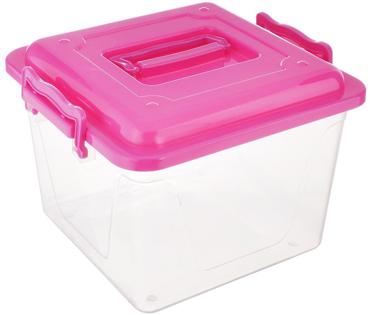 Контейнер Альтернатива, цвет: прозрачный, малиновый, 8,5 лHOM-55Контейнер Альтернатива прекрасно подойдет для хранения небольших игрушек, инструментов, швейных принадлежностей и многого другого. Он изготовлен из высококачественного пластика. Контейнер плотно закрывается крышкой с двумя защелками. Удобный и легкий контейнер позволит вам хранить вещи в полном порядке, а благодаря современному дизайну он впишется в любой интерьер. Контейнер имеет компактные размеры, поэтому не занимает много места.Размер (с учетом крышки): 26 х 27 х 20,5 см.