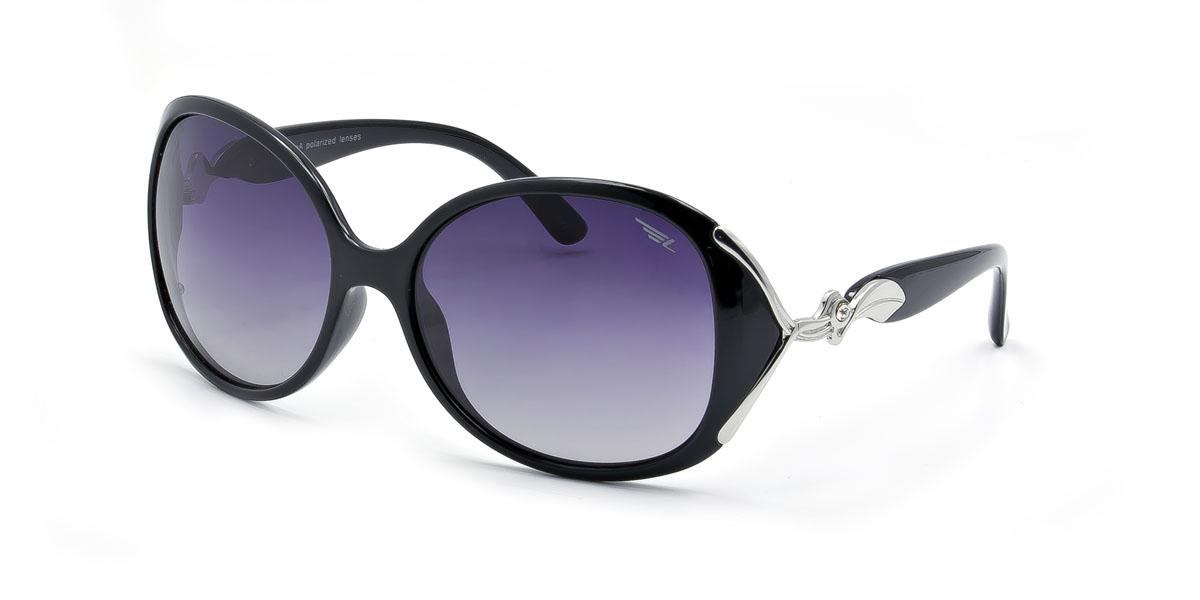 Очки женские поляризационные Legna, цвет: серебристый, черный. S8372AINT-06501Стильные солнцезащитные очки Legna сделают приятной прогулку в жаркий солнечный полдень. Их также по достоинству оценят водители, так как эта модель очков оснащена уникальными поляризационными линзами, которые задерживают раздражающие блики, что гарантирует полный зрительный комфорт и, как результат, повышенную безопасность. Высокоэффективный встроенный УФ фильтр обеспечивает совершенную защиту от вредных ультрафиолетовых лучейКроме того, это эффектный аксессуар, который наверняка станет «изюминкой» вашего индивидуального стиля. Оправа не только красивая, но и прочная, а линзы со временем не покроются мелкими царапинами. Чистка и обслуживание:Вымыть теплой водой, вытереть мягкой сухой салфеткой. Условия хранения: в футляре при нормальных климатических условиях.Предупреждение:Не использовать в солярии, не смотреть на прямые солнечные лучи, не использовать при управлении автомобилем в сумерках и ночью.
