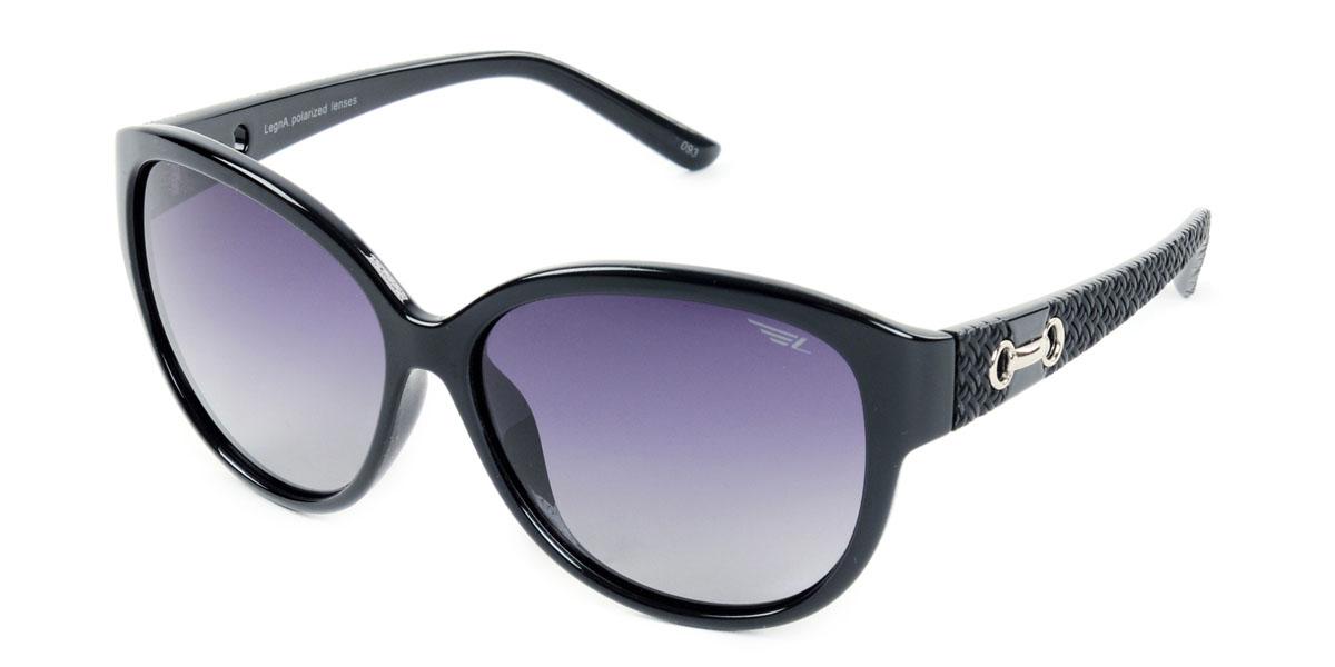 Очки женские поляризационные Legna, цвет: черный. S8406AINT-06501Стильные солнцезащитные очки Legna сделают приятной прогулку в жаркий солнечный полдень. Их также по достоинству оценят водители, так как эта модель очков оснащена уникальными поляризационными линзами, которые задерживают раздражающие блики, что гарантирует полный зрительный комфорт и, как результат, повышенную безопасность. Высокоэффективный встроенный УФ фильтр обеспечивает совершенную защиту от вредных ультрафиолетовых лучейКроме того, это эффектный аксессуар, который наверняка станет «изюминкой» вашего индивидуального стиля. Оправа не только красивая, но и прочная, а линзы со временем не покроются мелкими царапинами. Чистка и обслуживание:Вымыть теплой водой, вытереть мягкой сухой салфеткой. Условия хранения: в футляре при нормальных климатических условиях.Предупреждение:Не использовать в солярии, не смотреть на прямые солнечные лучи, не использовать при управлении автомобилем в сумерках и ночью.