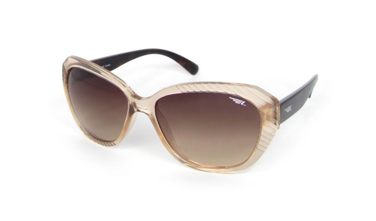 Очки женские поляризационные Legna, цвет: бежевый, коричневый. S8502BINT-06501Стильные солнцезащитные очки Legna сделают приятной прогулку в жаркий солнечный полдень. Их также по достоинству оценят водители, так как эта модель очков оснащена уникальными поляризационными линзами, которые задерживают раздражающие блики, что гарантирует полный зрительный комфорт и, как результат, повышенную безопасность. Высокоэффективный встроенный УФ фильтр обеспечивает совершенную защиту от вредных ультрафиолетовых лучейКроме того, это эффектный аксессуар, который наверняка станет «изюминкой» вашего индивидуального стиля. Оправа не только красивая, но и прочная, а линзы со временем не покроются мелкими царапинами. Чистка и обслуживание:Вымыть теплой водой, вытереть мягкой сухой салфеткой. Условия хранения: в футляре при нормальных климатических условиях.Предупреждение:Не использовать в солярии, не смотреть на прямые солнечные лучи, не использовать при управлении автомобилем в сумерках и ночью.