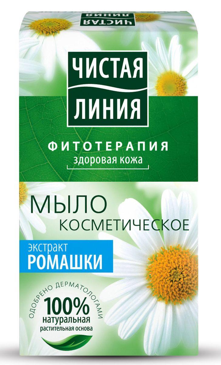 Чистая Линия Фитотерапия Твердое мыло Экстракт ромашки 80 гр