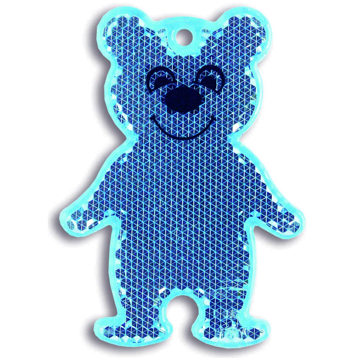 Мамасвет Светоотражатель пешеходный Мишка цвет синий