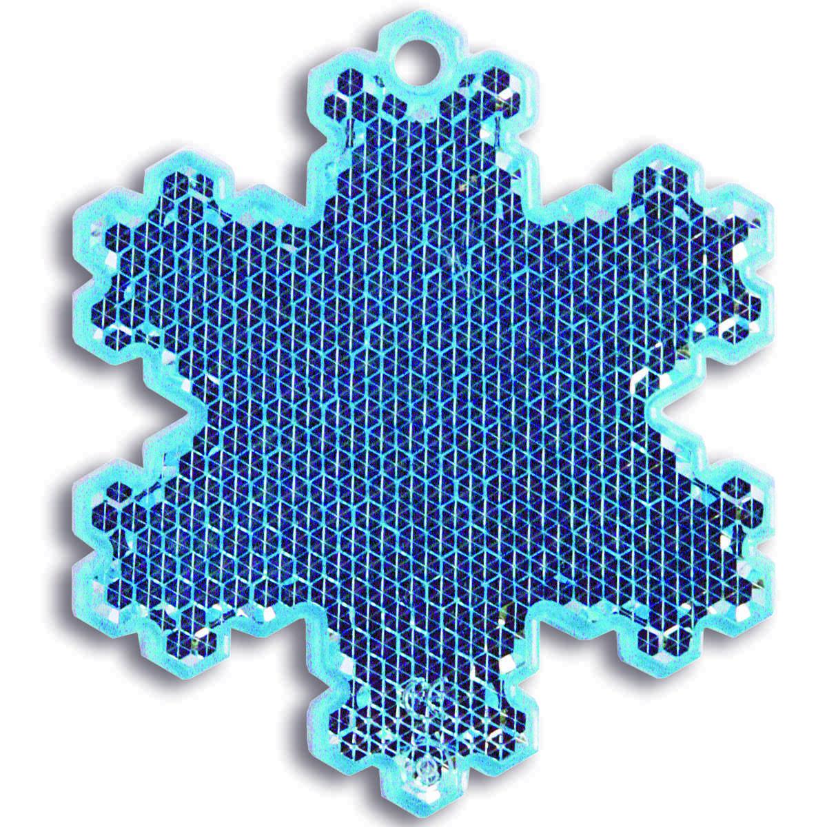 Мамасвет Светоотражатель пешеходный Снежинка цвет голубой06039A3402Светоотражатель пешеходный Мамасвет Снежинка выполнен из высококачественного материала в виде подвески.Светоотражатель должен свободно раскачиваться и быть видимым со всех сторон. В комплект со светоотражателем входит специальное крепление - шариковая цепочка. В темное время суток движущийся пешеход становится виден в свете автомобильных фар только на расстоянии 30 метров - у водителя остается всего лишь 1,3 секунды на то, чтобы среагировать. Пешеход же со светоотражателем заметен уже на расстоянии 150-400 метров, и у водителя есть целых 7 секунд, чтобы объехать его и избежать ДТП.Специалисты считают, что в темноте риск для пешехода стать жертвой ДТП или спровоцировать аварию возрастает в два раза, а у пешехода без светоотражателя он почти в десять раз выше, чем у того, кто использует это полезное изобретение.