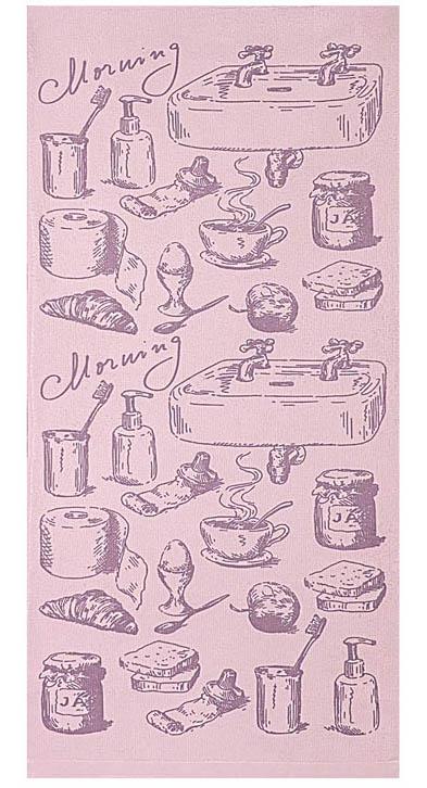 Полотенце кухонное Soavita Kitchen Mix Morning, цвет: лиловый, 34 х 76 смVT-1520(SR)Кухонное полотенце Soavita Kitchen Mix Morning, выполненное из высококачественной микрофибры (полиэстер), оформлено оригинальным рисунком. Микрофибра - материал высочайшего качества, изготовленный из сложных микроволокон, по ощущениям напоминает велюр и передающий уникальное и невероятное чувство мягкости. Ткань из микрофибры дышащая, устойчива к загрязнениям и пятнам, сохраняет свой высококачественный внешний вид и уникальную мягкость в течении всего срока службы. Изделие предназначено для использования на кухне и в столовой.Такое полотенце станет отличным вариантом для практичной и современной хозяйки.