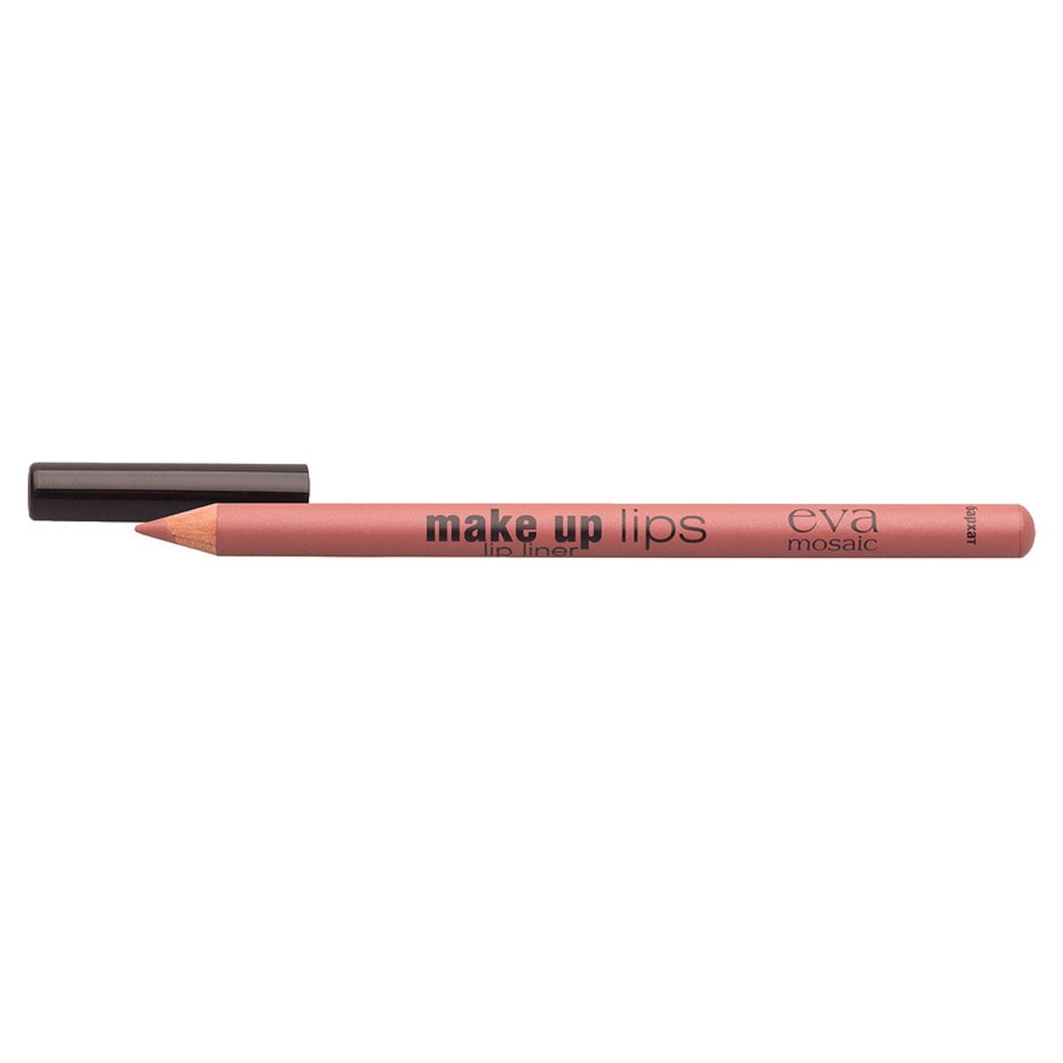 Eva Mosaic Карандаш для объема губ Make Up Lips, 1,1 г, Бархат28032022Мягкий карандаш для губ создает четкий контур и подчеркивает цвет помады- комфортно наносится- содержит воски и питательные вещества для дополнительного ухода- не стирается и не размазывается в течение дня