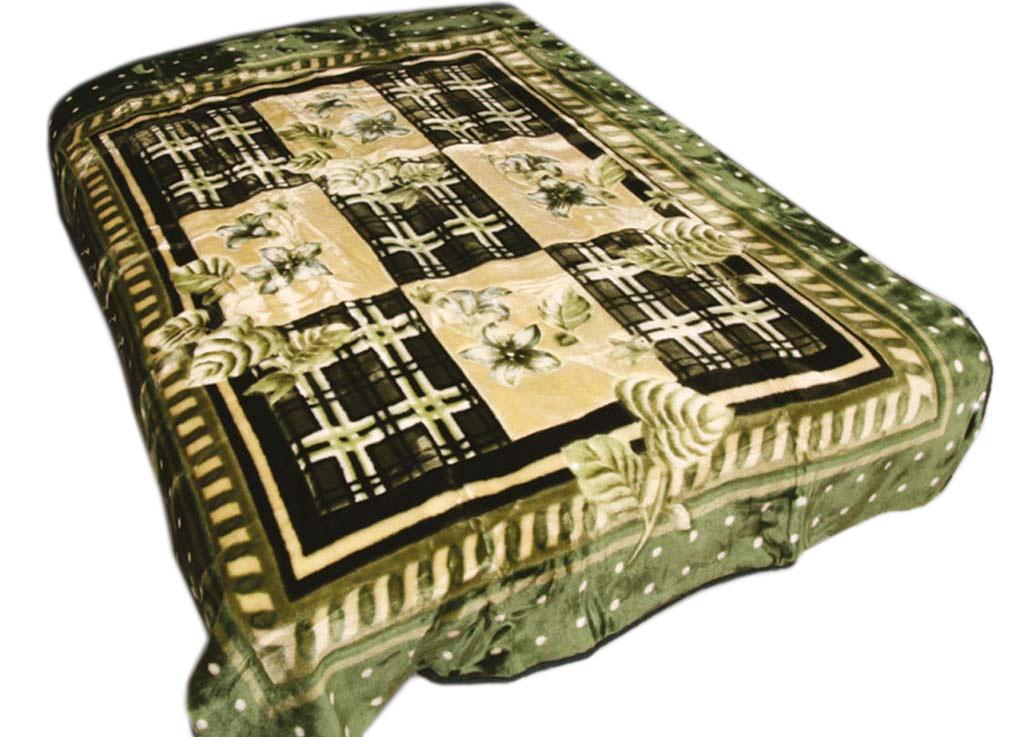 Плед Tamerlan, стриженый, цвет: зеленый, 160 х 220 см. 61353ES-412плотность 600 гр/м2
