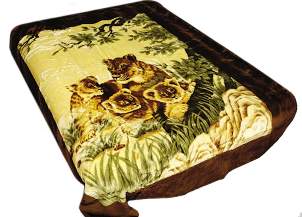Плед Tamerlan, нестриженый, цвет: коричневый, желтый, 150 х 200 см. 74524ES-412плотность 400 гр/м2