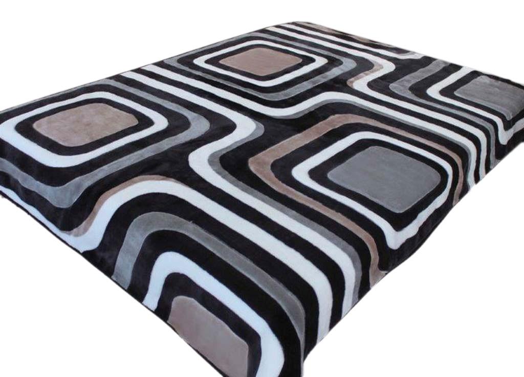 Плед Tamerlan, нестриженый, цвет: синий, черный, 150 х 200 см. 74525ES-412плотность 400 гр/м2