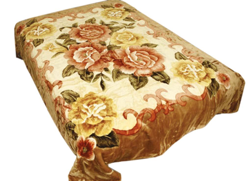 Плед Tamerlan, нестриженый, цвет: светло-коричневый, 150 х 200 см. 745351004900000360плотность 400 гр/м2