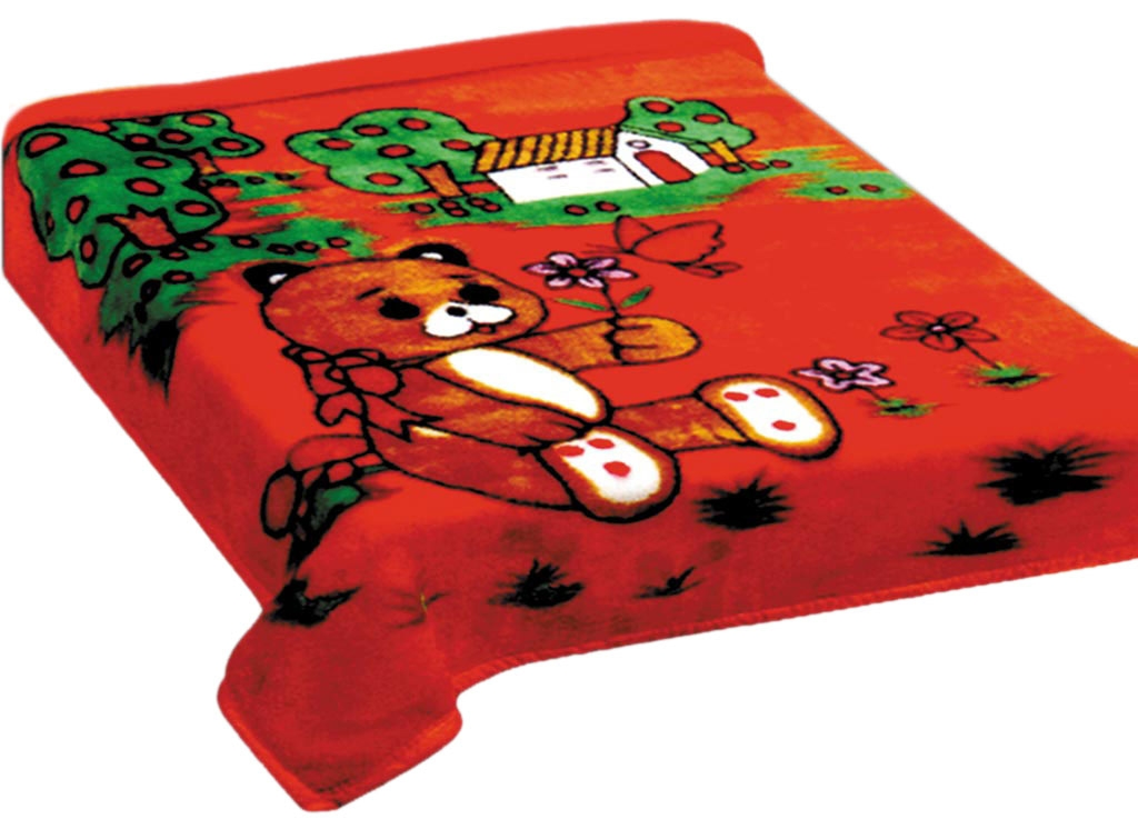 Плед Toledo, нестриженый, цвет: красный, 110 х 140 см. 75943CLP446плотность 520 гр/м2