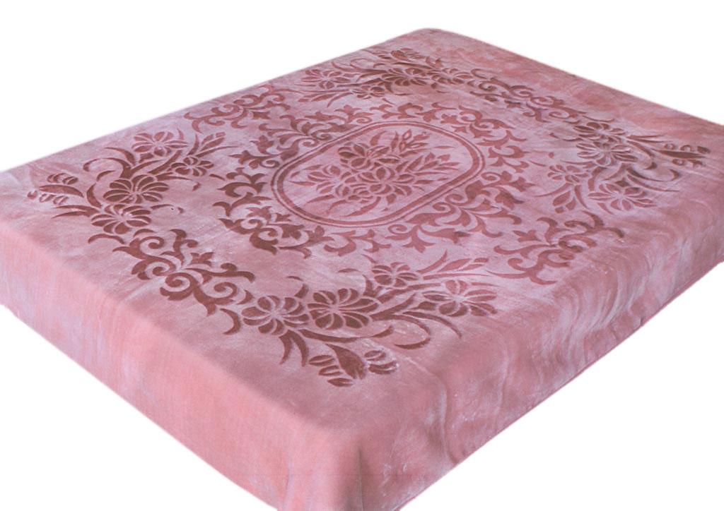 Плед Tamerlan, стриженый, цвет: розовый, 160 х 220 см. 77131BL-1Bплотность 600 гр/м2