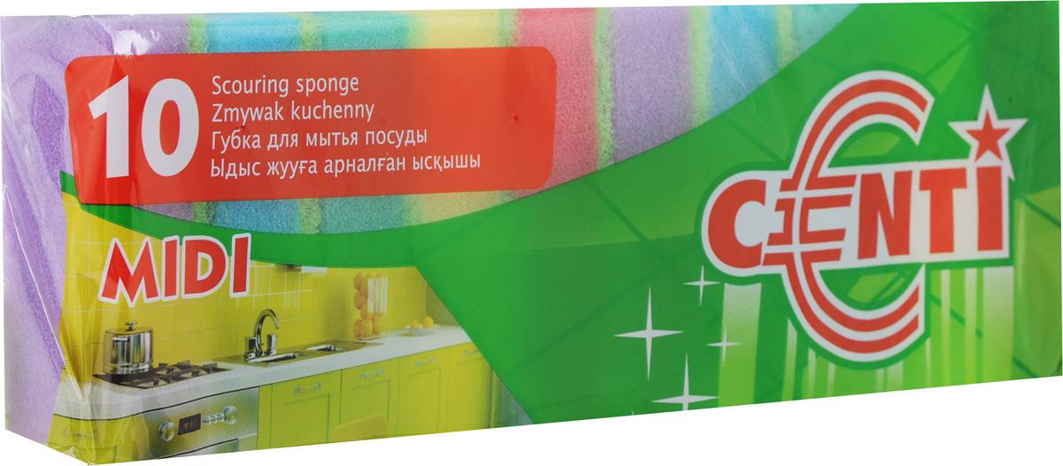 Набор губок для мытья посуды CentiMidi, 10 шт. 30160531-105Губки CentiMidi, выполненные из сложных полимеров, предназначены для мытья посуды, столовых приборов, кухонной утвари, а также подходит для чистки поверхности плит, раковин, ванн и кафеля. Изделия оснащены абразивным слоем. Размер губки: 8 х 5 х 2,3 см.