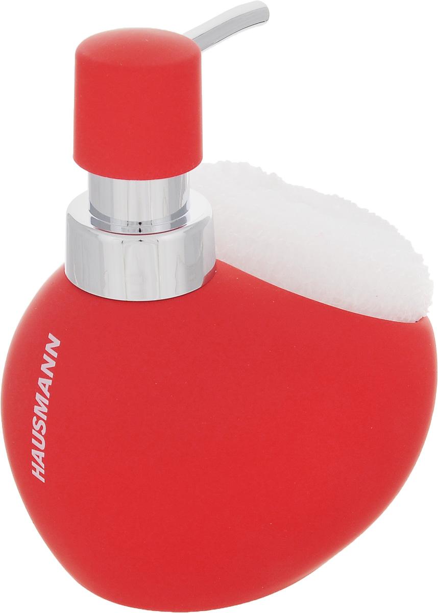 Дозатор для моющего средства Hausmann, с губкой, цвет: красный, 300 млS03301004Дозатор Hausmann, выполненный из керамики, прекрасно подходит для удобной дозировки и хранения моющих средств на кухонном гарнитуре, рядом с мойкой. В комплекте имеется губка.Высота дозатора (с учетом крышки): 13,5 см.Размер дозатора (без учета крышки): 11,5 х 9,5 х 9 см.Размер губки: 9 х 8,5 х 3,5 см.