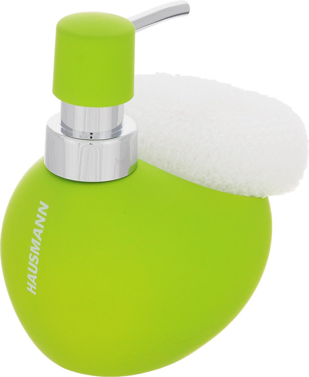 Дозатор для моющего средства Hausmann, с губкой, цвет: салатовый, 300 мл68/5/3Дозатор Hausmann, выполненный из керамики, прекрасно подходит для удобной дозировки и хранения моющих средств на кухонном гарнитуре, рядом с мойкой. В комплекте имеется губка.Высота дозатора (с учетом крышки): 13,5 см.Размер дозатора (без учета крышки): 11,5 х 9,5 х 9 см.Размер губки: 9 х 8,5 х 3,5 см.